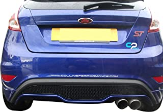 Zunsport Compatible with Ford Fiesta ST Mk 7.5 - Rear Grill - Black Finish (2013 to 2017)