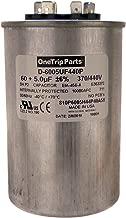 OneTrip Parts USA Run Capacitor 60+5 UF 60/5 MFD 370 VAC / 440 VAC 2-1/2 Inch Round Heavy Duty