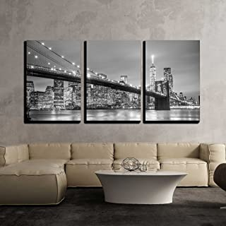 wall26 - York City Downtown Skyline - Canvas Art Wall Decor-24 x36 x3 Panels