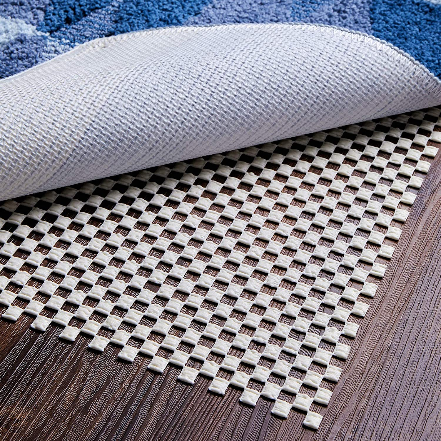 2 x 8 Ft Yome Rug Pad Gripper Non-Slip Extra Thick Pad for Any Hard Surface Floors