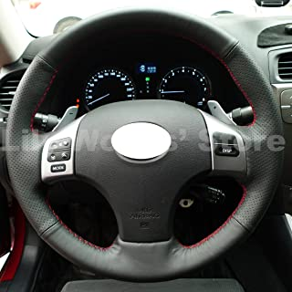 JI Hand Sewing Genuine Leather Steering Wheel Cover for 2006 2007 2008 2009 2010 2011 2012 2013 Lexus IS250 / 2006 2007 2008 2009 2010 2011 2012 2013 Lexus IS350