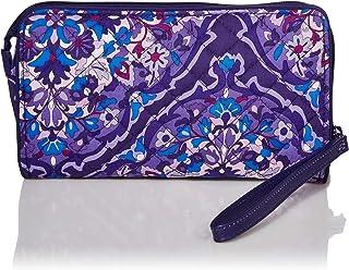 Vera Bradley Women's Signature Cotton Front Zip Wristlet with RFID Protection