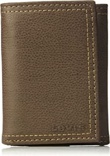Levi's Mens Rfid Security Blocking Trifold Wallet, 14 cm