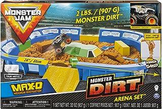 Monster Jam 6046704 Kinetic Dirt Arena Playset, Multicolored