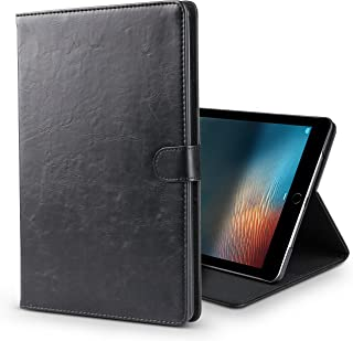 B BELK iPad 10.2 Case 2019, PU Leather Case with Wallet Pocket, Auto Sleep/Wake Smart Lightweight Stand Shockproof Cover Fit New iPad 7th Generation 10.2 inch 2019 Case (Black)