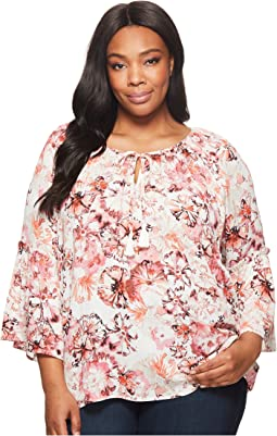 Karen Kane Plus - Plus Size Ruffle Sleeve Top
