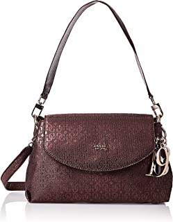 burgundy guess purse