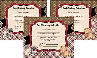 Puppy Dog Adoption Party Theme Decoration Invitation Supply Kit (Adoption Certificate)