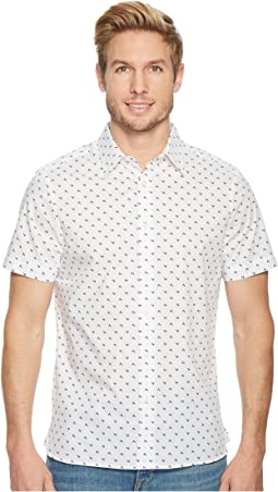 Perry Ellis - Short Sleeve Stretch Printed Arrowhead Shirt