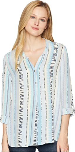 NIC+ZOE Beach Stripe Top