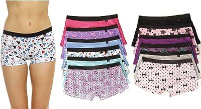 Just Intimates Cotton Panties/Boyshort Underwear (Pack of 12)