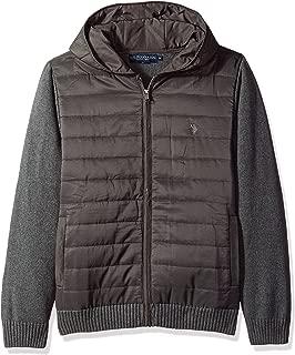 Men's Quilted Full Zip Hoodie Sweater