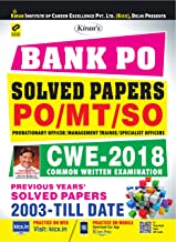 Kiran's Bank PO Solved Papers PO/MT/SO CWE 2018 Previous Years Solved Papers 2003 - Till Date