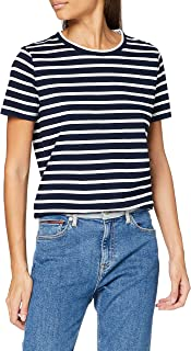 Tommy Hilfiger TH Ess Relaxed C-nk Tee SS Camicia Donna