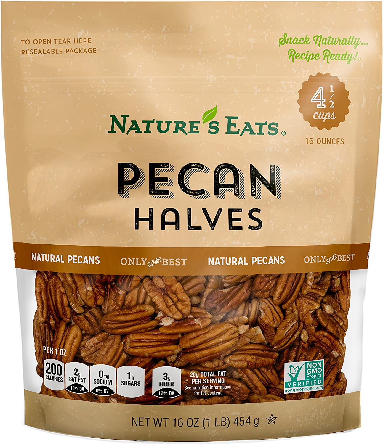 Nature's Eats Halves All Popular shop is the lowest price challenge items free shipping Pecan 16 of Pack Ounce 1