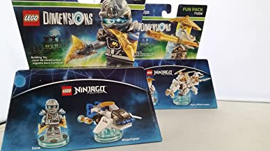 Lego Dimensions Zane Sensei Wu Ninjago Bundle 2 items