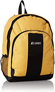 Backpack with Front and Side Pockets, Yellow