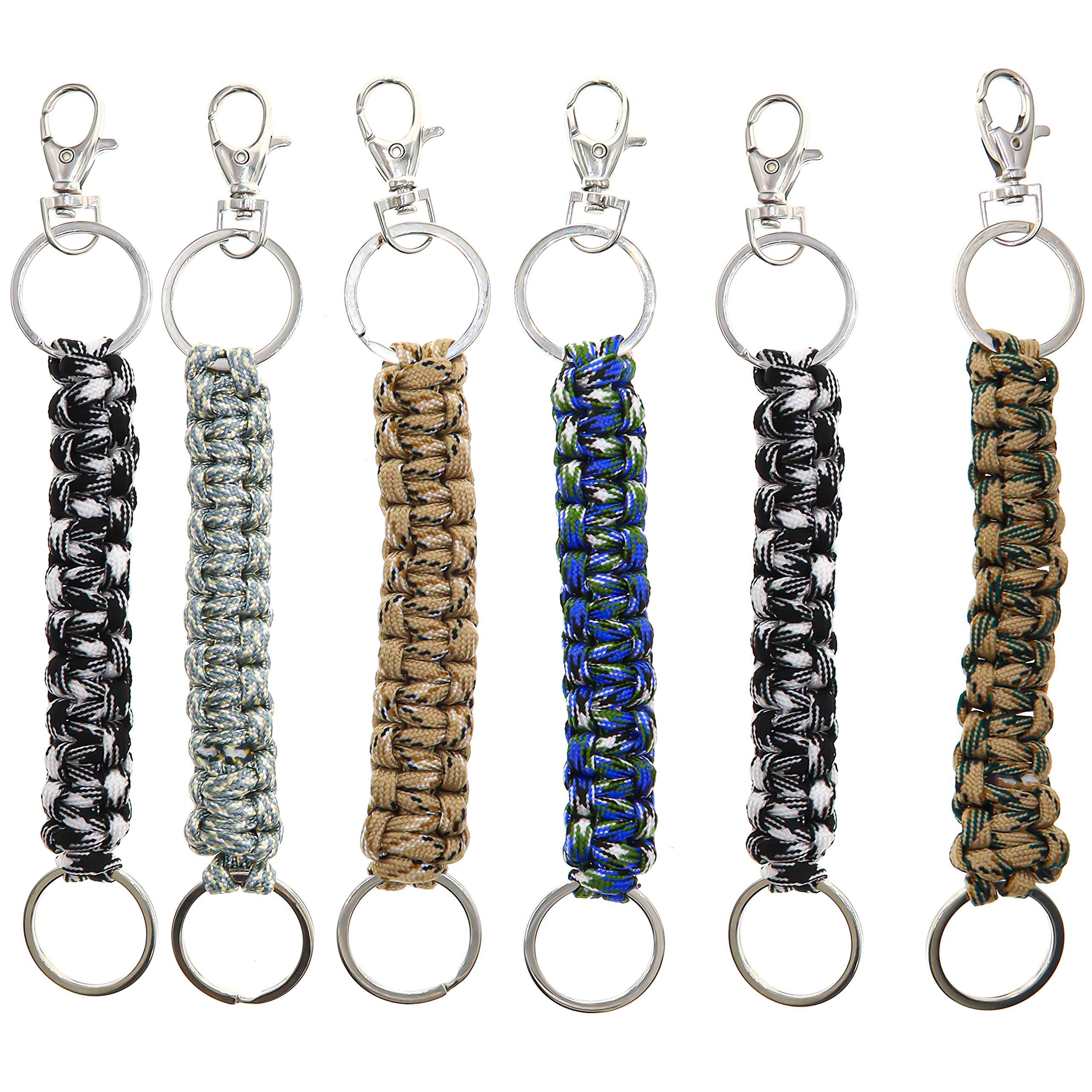 Paracord Keychain Keyrings Handmade Parachute