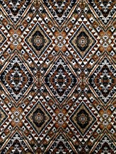 Brown Tribal Big Print on Stretch Lightweight ITY Knit Jersey Polyester Spandex Fabric by the Yard