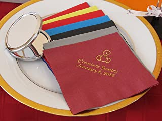 50 Personalized Luncheon Napkins Wedding Favors Custom Printed Napkins Baby Shower