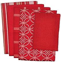 "DII 100% Cotton, Ultra Absorbent, Oversized, Washing, Drying, Basic Everyday Kitchen Dishtowel 18 x 28"" & Dishcloth 13 x 1..."