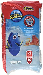 Huggies Little Swimmers Disposable Swimpants Large 32+ LB 10 Each