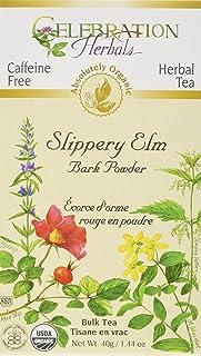 Celebration Herbals Slippery Elm Bark Powder Loose Pack Tea Caffeine Free, 40g