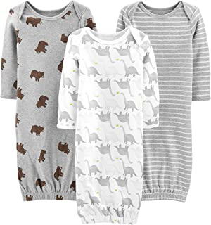 Simple Joys by Carter's Pack de 3 Pijamas de Algodón Neutro. Infant-and-Toddler-Sleepers Unisex bebé (Pack de 3)