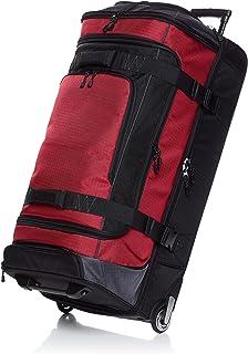 حقيبة دفل بعجل مصنوعة من نسيج الريب ستوب من امازون بيسكس- 35 انش باللون الاحمر