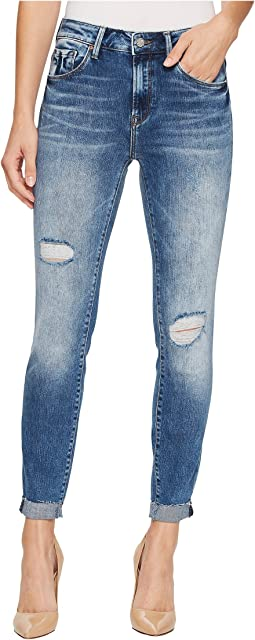 Tess High-Rise Super Skinny Ankle in Mid Indigo Vintage