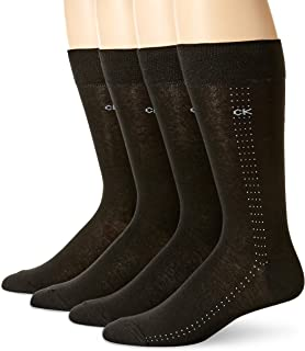 Men's Fine Striped Crew Socks - 4 Pack