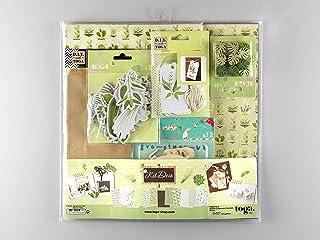 DRAEGER PARIS 1886 Oh My Green Kit de scrapbooking, Papier, Multicolore, 30,5 x 30,5 cm