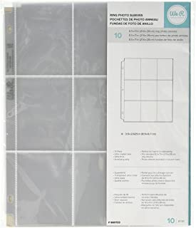 8.5 x 11-inch 3-Ring Album Page Protectors by We R Memory Keepers | 9 - 2.625 x 3.5-inch pockets | 10 pack