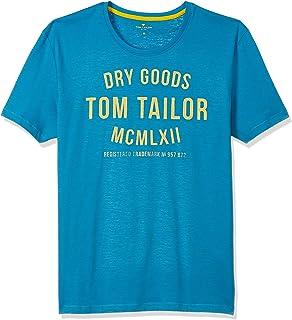 Tom Tailor Men's Fine Print T-Shirt