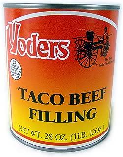 Yoders Canned Taco Seasoned Beef-long Shelf Life, 28oz