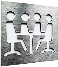 Sign for business Iscriviti per affari Targa da parete per ufficio cartello porta sala conferenze Office wall art plaque Aluminium Conference Room door sign