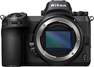 Nikon Z6 Cámara Mirrorless sin Espejo de Lente Intercambiable, Wi-Fi, Bluetooth, color Negro
