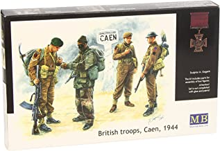 Master Box British Troops Caen 1944 (4) Figure Model Building Kits (1:35 Scale)