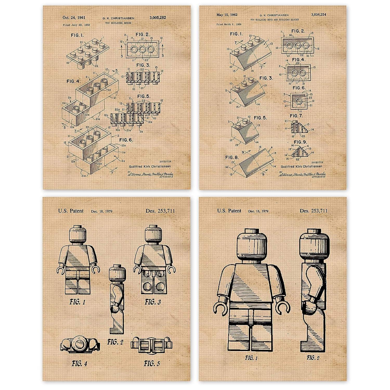 Interlocking Super popular specialty store Figure Patent Poster Prints half 8x10 Phot 4 Unframed
