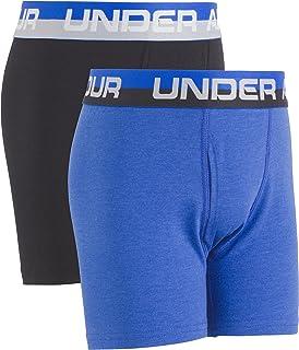 Under Armour Boys' Big' 2 Pack Solid Cotton Boxer Briefs