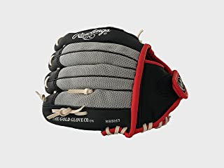 Rawlings Baseball Glove Pro 10½ inches Professional Tee Ball Pitcher Hand Playmaker Gamer Series Leather Pocket Mitt Right Throw Black Infield Gloves