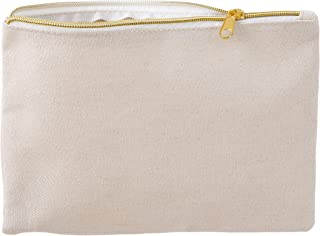 Darice Canvas Zipper Pouch: Natural, 10 x 6.8 Inches, 2 Pack