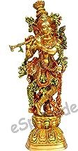 "eSplanade - 29"" Brass Murli Krishna Statue - Very Big Size - Brass Krishna Idol Murti Statue Sculpture (29"")"
