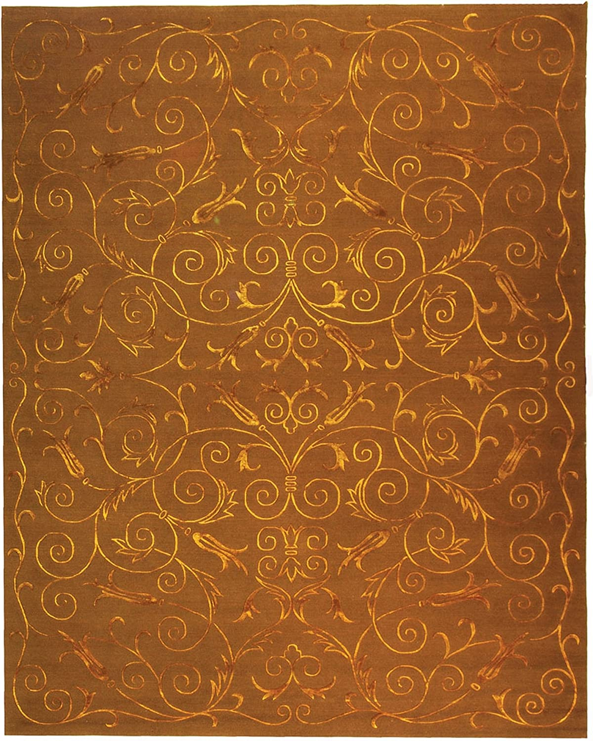 Safavieh Tibetan In stock Max 79% OFF Collection TB417K S Premium Hand-Knotted Scroll