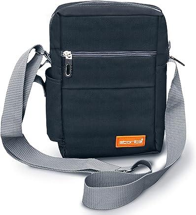Storite Stylish Nylon Sling Cross Body Travel Office Business Messenger one Side Shoulder Bag for Men Women (16x7.5x25 cm)