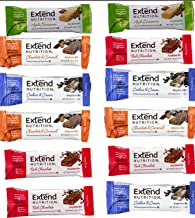 Extend Bar,15 Protein Bars, Variety Pack, High Protein Snack 1.41 oz. Bars (Pack of 15)