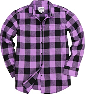 Womens Buffalo Plaid Long Sleeve Flannel Shirt