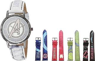 ساعة مارفل للرجال كوارتز مع شريط مطاطي، متعدد الألوان - 13 موديل AVX90000AZ)