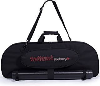 Southwest Archery Universal Takedown Recurve Bow Case | Fully Padded Foam case Includes Adjustable Arrow Tube and Large Outside Pocket for Accessories - Perfect for Travel