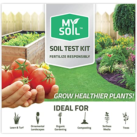 MySoil - Soil Test Kit | Grow The Best Lawn & Garden | Complete & Accurate Nutrient and pH Analysis with Recommendations Tailored to Your Soil and Plant Needs